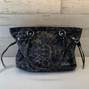 Guess Cheetah Print Shoulder Bag Purse